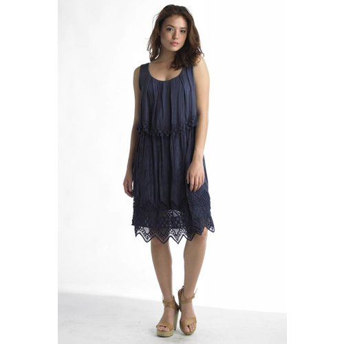 TEMPO PARIS LAYERED CROCHET DRESS