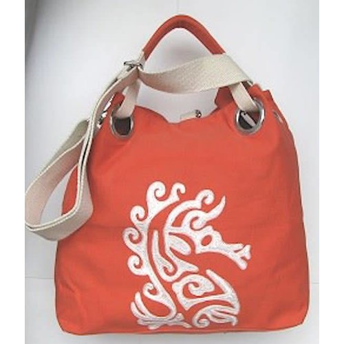 PINE CREEK SEA HORSE TOTE BAG