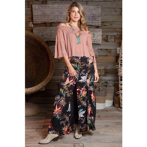 Z & L EUROPE FLORAL MAXI SKIRT