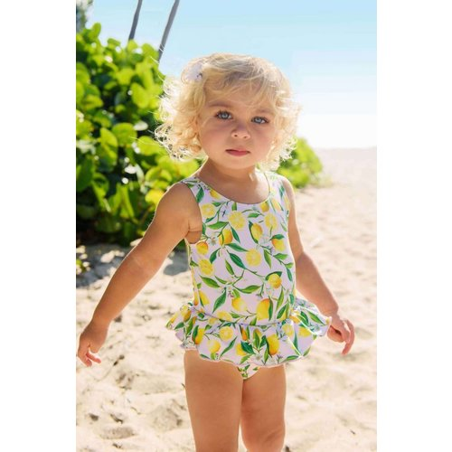 SNAPPER ROCK LEMON PRINT SWIMSUIT