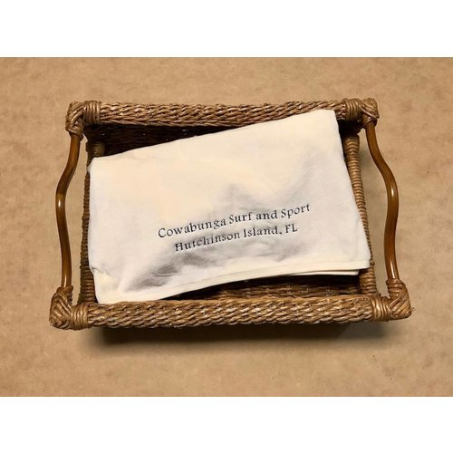 "LUXURY VELOUR EMBROIDERED TOWEL, IVORY , 40"" x76"""