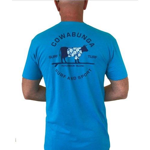 COWABUNGA SURF & TURF S/S TEE, TURQUOISE