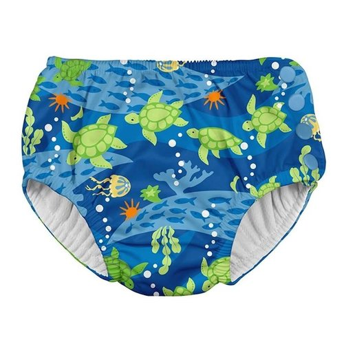 IPLAY REUSABLE SWIM DIAPER, ROYAL BLUE TURTLE