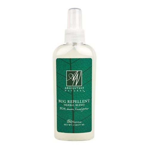 ABSOLUTELY NATURAL BUG REPELLANT, HERBAL w/ LEMON EUCALYPTUS