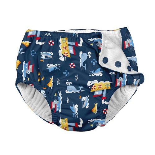 IPLAY REUSABLE SWIM DIAPER, NAVY TUGBOAT