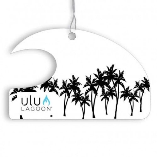 ulu LAGOON ulu LAGOON MINI WAVE AIR FRESHENER BLACK PALMS