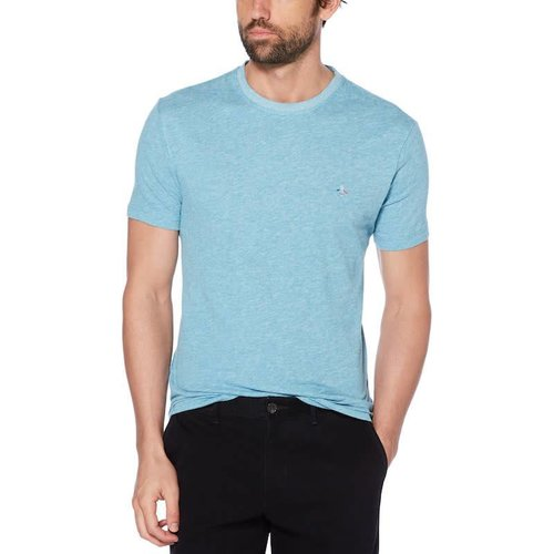 ORIGINAL PENGUIN MENS LINEN COTTON S/S TEE