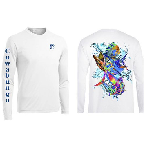 REEFERS FISH COLLAGE PERFORMANCE SHIRT