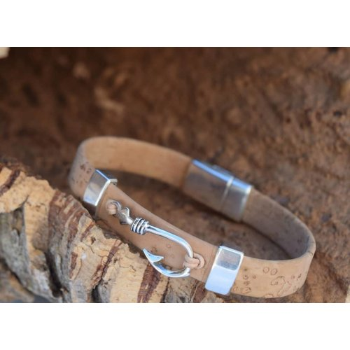 CORK TREE DESIGNS HOOK, LINE & SINKER CORK BRACELET
