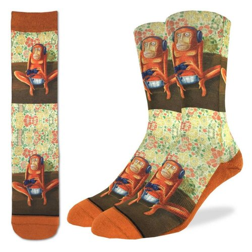 GOOD LUCK SOCK GAMING MONKEYS MENS SOCKS