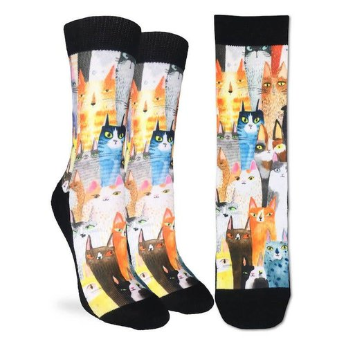 GOOD LUCK SOCK CAT PARTY WOMENS SOCKS