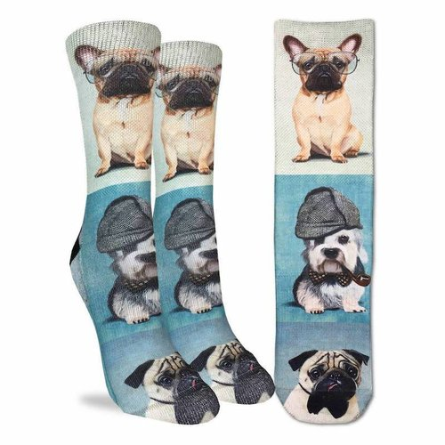 GOOD LUCK SOCK DASHING DOGS WOMENS SOCKS