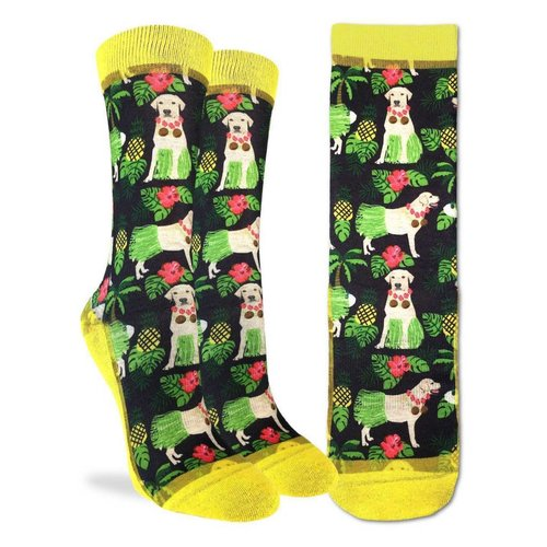 GOOD LUCK SOCK HULA LABRADOR RETRIEVER WOMENS SOCKS
