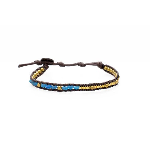 "LOTUS AND LUNA ""CROATIAN QUEEN"" WRAP BRACELET"