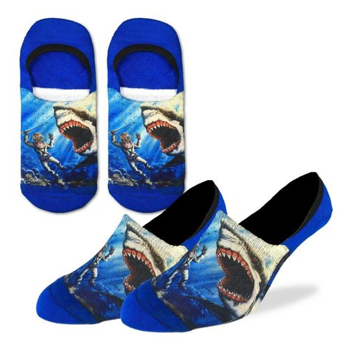 GOOD LUCK SOCK SHARK ATTACK NO SHOW SOCKS