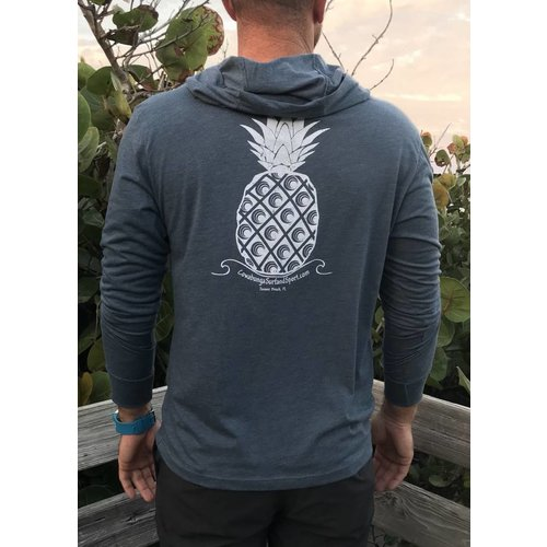 COWABUNGA PINEAPPLE L/S HOODED TEE