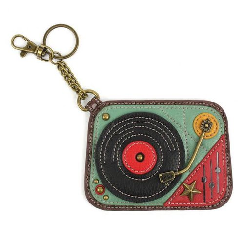 CHALA HANDBAGS TURNTABLE KEY FOB/COIN PURSE