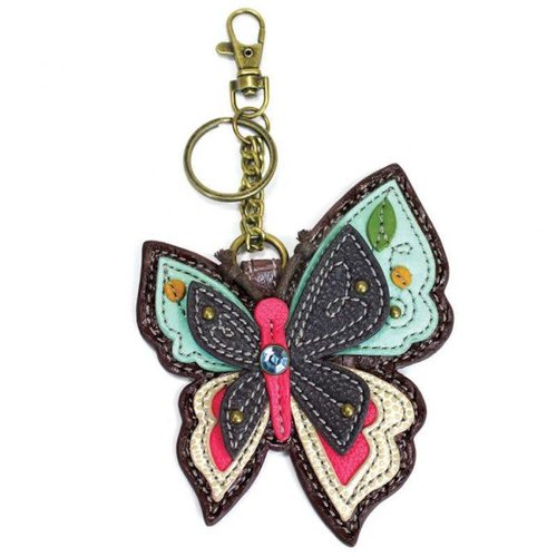 CHALA HANDBAGS BUTTERFLY KEY FOB/COIN PURSE