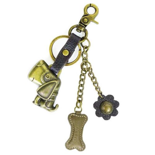 CHALA HANDBAGS DOG COMBO KEYCHAIN