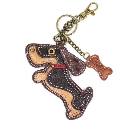 CHALA HANDBAGS WEINER DOG KEY FOB