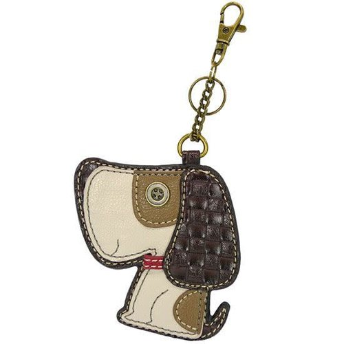 CHALA HANDBAGS TOFFEE DOG KEY FOB/COIN PURSE