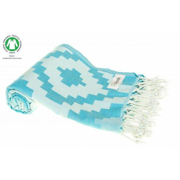 BARBADOS 100% COTTON TURKISH TOWEL, AQUA