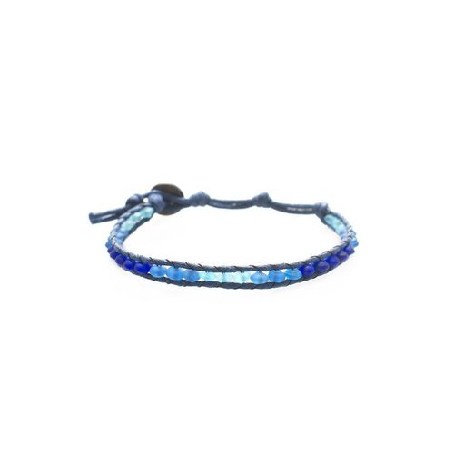 """LOTUS AND LUNA """"BLUE TANG"""" SINGLE WRAP ANKLET"""