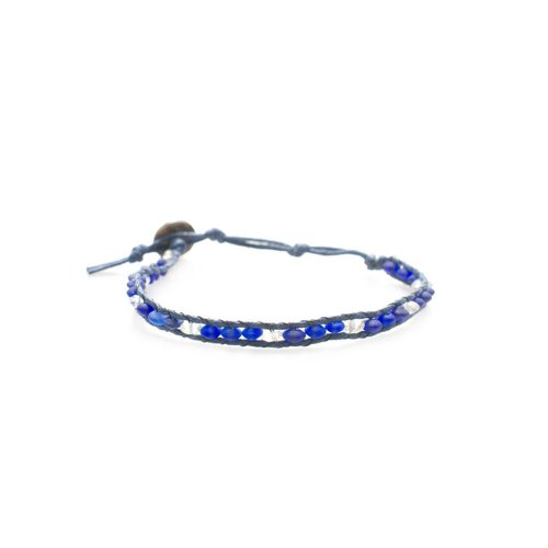 """LOTUS AND LUNA """"BLUE WHALE"""" SINGLE WRAP ANKLET"""