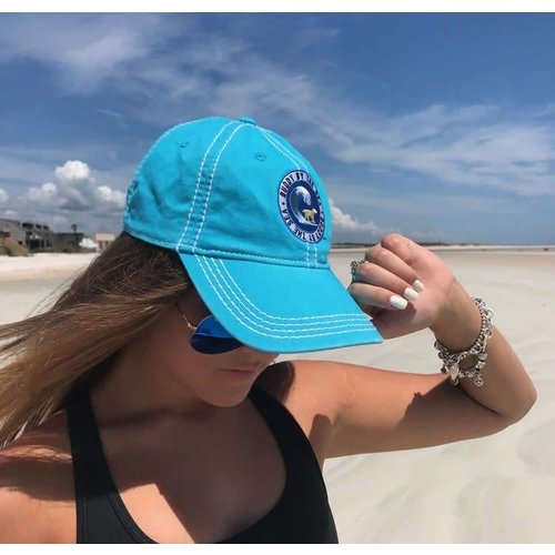 BUDDY BY THE SEA BUDDY LOGO BASEBALL CAP, MAUI BLUE