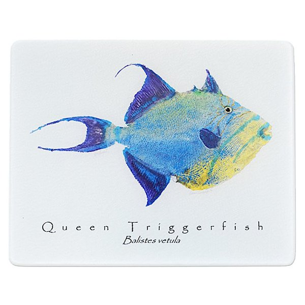 GYOTAKU QUEEN TRIGGERFISH CUTTING BOARD, WHITE