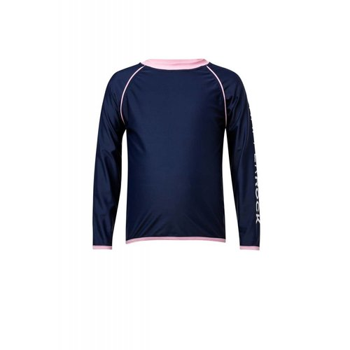 SNAPPER ROCK NAVY & PINK L/S RASH TOP