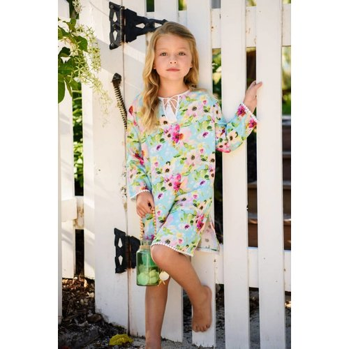 SNAPPER ROCK WATERCOLOR FLORAL KAFTAN