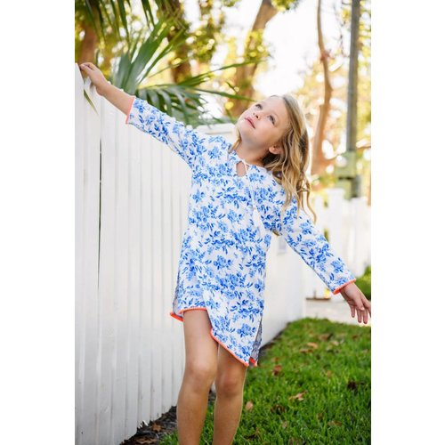 SNAPPER ROCK COTTAGE FLORAL CLASSIC KAFTAN