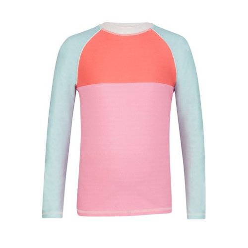 SNAPPER ROCK COLOR BLOCK L/S RASH TOP