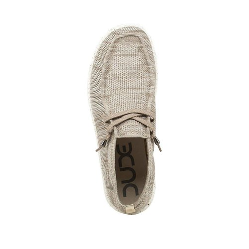 HEY DUDE SHOES WALLY KNIT BEIGE MENS SHOES