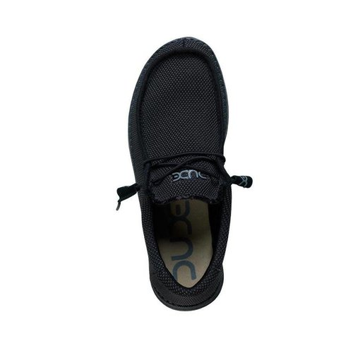 HEY DUDE SHOES WALLY SOX BLACK MENS SHOES