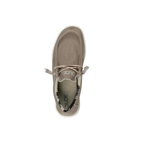 HEY DUDE SHOES WALLY STRETCH BEIGE MENS SHOES