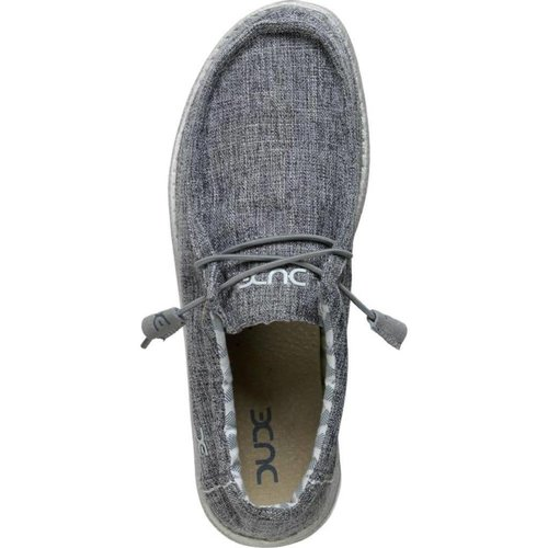 HEY DUDE SHOES WALLY LINEN CANVAS MENS SHOES