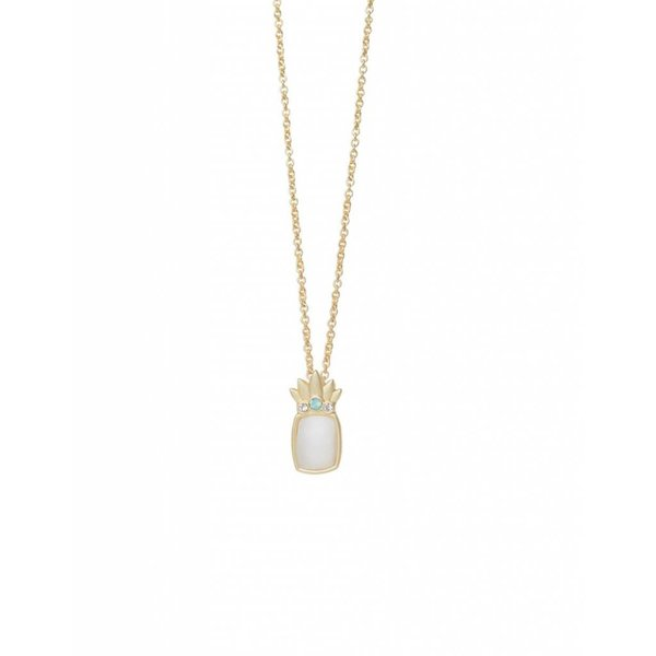 """""""FOREVER FRIENDS"""" PINEAPPLE NECKLACE, GOLD"""