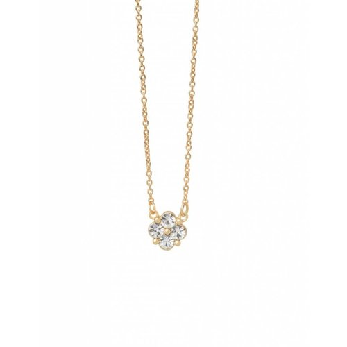 """SPARTINA 449 """"BLESSED"""" CRYSTAL CLOVER NECKLACE"""