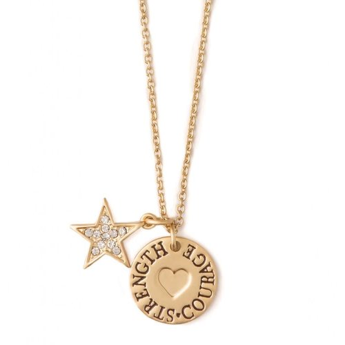 "SPARTINA 449 ""BE COURAGEOUS"" GOLD NECKLACE"