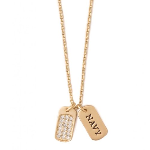 """SPARTINA 449 """"BE AMERICAN"""" MFM NAVY NECKLACE"""
