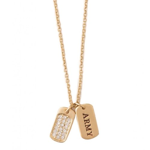 "SPARTINA 449 ""BE STRONG"" MFM ARMY NECKLACE"