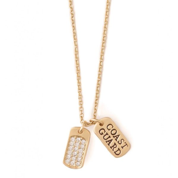 """BE READY"" MFM COAST GUARD NECKLACE, GOLD"