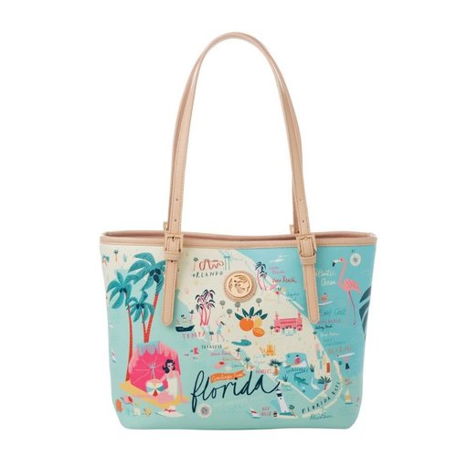 "SPARTINA 449 ""GREETINGS FROM FLORIDA"" SMALL TOTE"