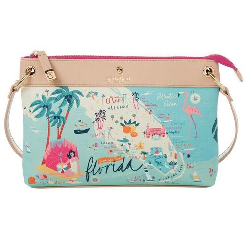 "SPARTINA 449 ""GREETINGS FROM FLORIDA"" CROSSBODY"