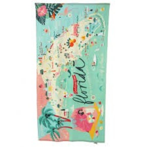 "SPARTINA 449 ""GREETINGS FROM FLORIDA"" BEACH TOWEL"