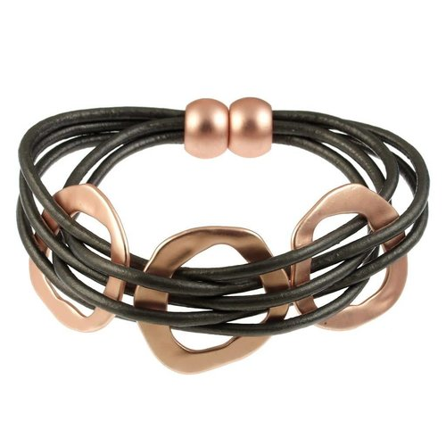 ORIGIN JEWELRY LEATHER WOVEN RINGS BRACELET