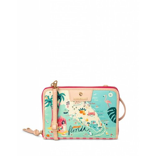 "SPARTINA 449 ""GREETINGS FROM FLORIDA"" PHONE CROSSBODY"