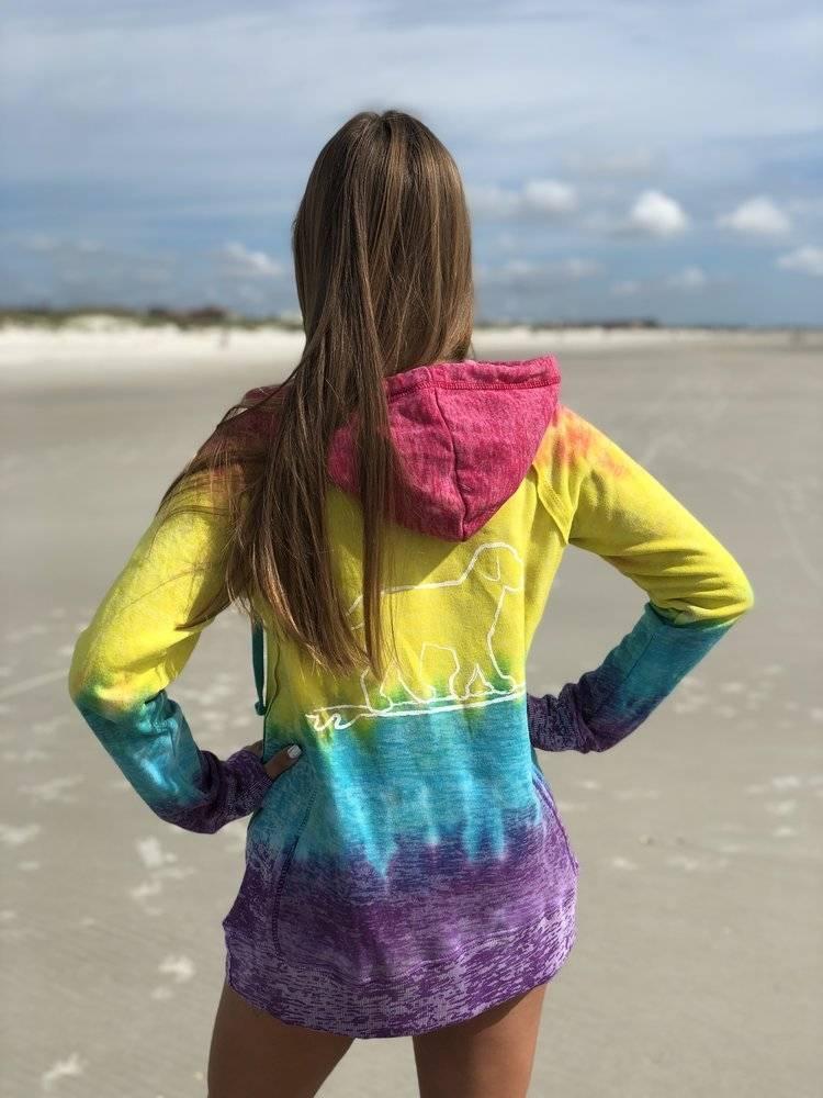 Tie Dye Youth Hooded Sweatshirt Rainbow Shop Cowabunga